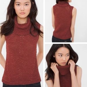 WHBM • Cowl Neck Cable Knit Top